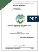 Historia de La Economia de Los Recursos Naturales