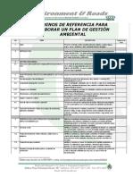 Términos de referencia para Evaluación de Impacto Ambiental