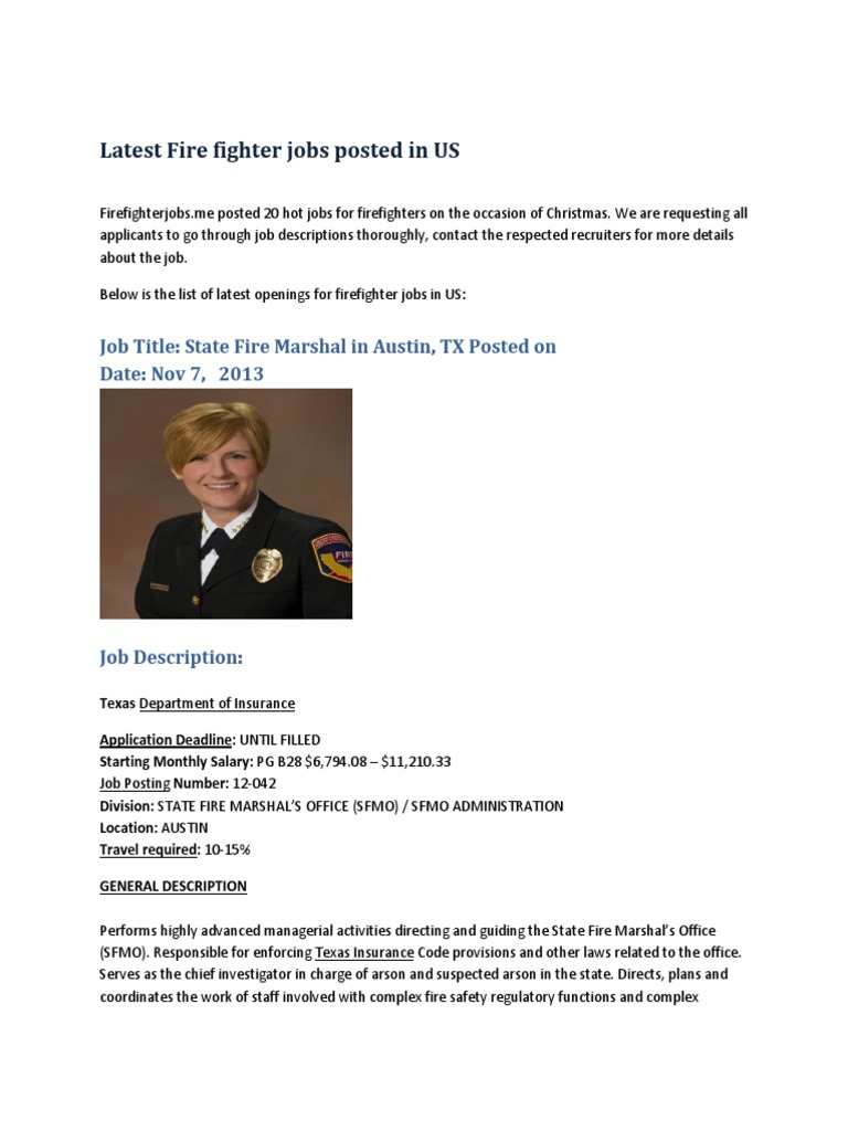 Firefighter Jobs By Firefighterjobs.me | Professional Certification | Safety