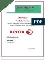 Xerox Project Report,Anupam Kumar,Vvism,Hyderabad
