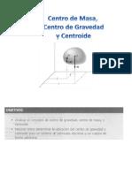 Centroide, Centro de Gravedad y Centro de Masa