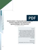 Ibarra Peñaranda - Modernidad o postmodernidad - Hacia nuevos espacios de construcción epistemológica del derecho