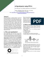 Digital Speedometer using FPGA