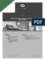IOM 200 Data Sheet 4921240366 UK