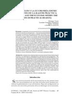 Aristoteles y La Economia Entre Los Limites de La Razon Practica IDEAS Y VALORES