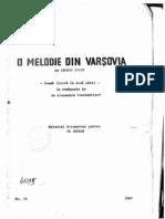 O Melodie Din Varsovia
