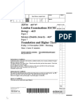 Physics IGCSE past paper
