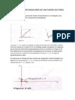 Componentes Rectangulares de Una Fuerza Vectores Angulares