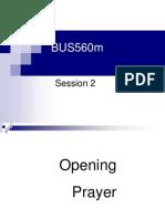 BUS560m Session 3
