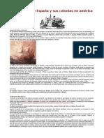 Comercio entre España y sus colonias en américa