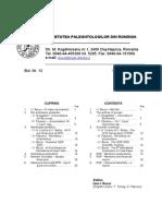 Acta Palaeontologica Romaniae Buletin informativ Nr. 12