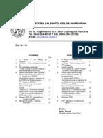Acta Palaeontologica Romaniae Buletin informativ Nr. 14
