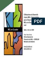 MDL Desarrollo de Proyecto de Electrificacion Rural en Ecuador