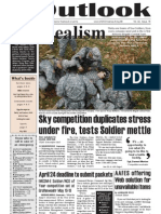 Outlook Newspaper  - 16 April 2009 - United States Army Garrison Vicenza - Caserma, Ederle, Italy