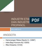 Industri Etanol Dan Industri Propanol