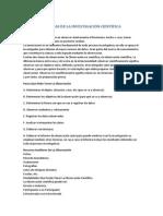 TECNICAS DE LA INVESTIGACIÓN CIENTÍFICA