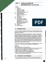Unit 7 Applicatiqns of Differential Calculus