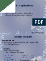 5 8 applications