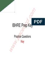 IBHRE Prep Key.pdf