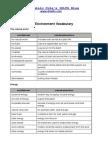 Environment Vocab