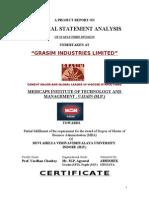 Financial Analysis of grasim industries nagda