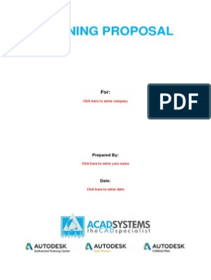 04 Training Proposal Template | Autodesk | Technical Drawing