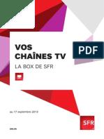 Vos Chaines TV Box de SFR