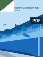 The Emissions Gap Report 2013