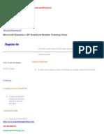 microsoft dynamics gp training certification