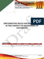 Nfjpiar3_1314_IRR No. 7_Safekeeping of Documents
