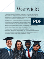 prospectus warwick university