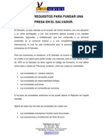 Pasos y Requisitos Para Fundar Una Empresa en El Salvador