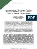 Agenda Setting Priming and Framing