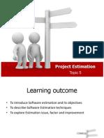 Topic5 Project Estimates