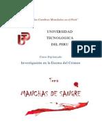 Manchas de Sangre UNIVERSIDAD Tecnica de Peru
