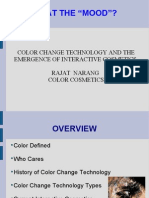 COLOR CHANGE TECHNOLOGY AND THE EMERGENCE OF INTERACTIVE COSMETICS