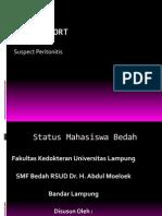 Case Report Peritonitis dr. Yuzar.ppt