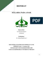 REFERAT MALARIA Ayukusumaningrum