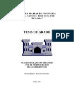 Analisis de Laminas Delgadas Por El Metodo de Elementos Finitos,,,,Tesis Incompleta