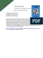E Book Quality of Life _University of Chicago_knyga