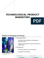 Technology Product Marketing-Indian Case Study