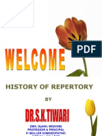 History of Repertory by Dr S.K.Tiwari