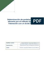 Determinación de proteinas