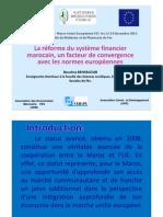 La Reforme Du Systeme Financier Marocain Un Facteur de Convergence Avec Les Normes Europeennes
