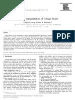 Wavelet representation of voltage flicker