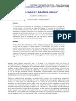 Capital Humano y Capacidad Humana - Amartya Sen