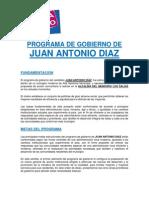 Programa de Gobierno Juan Antonio Díaz - Alcaldía de Los Salias (Versión 1.0)