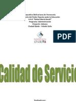 Calidad de Servicio INFORME