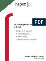 Lazzarini_Measuring Trust an Experiment