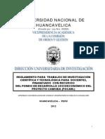 Reglamento Trabajos de Investigacion 2012